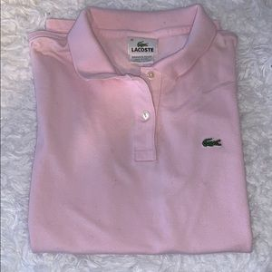 Lacoste Polo Light Pink Size 42